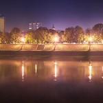 Színes ködös Tisza part