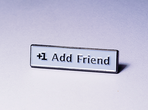 add me lapel pin, facebook lapel pin, social media lapel pin
