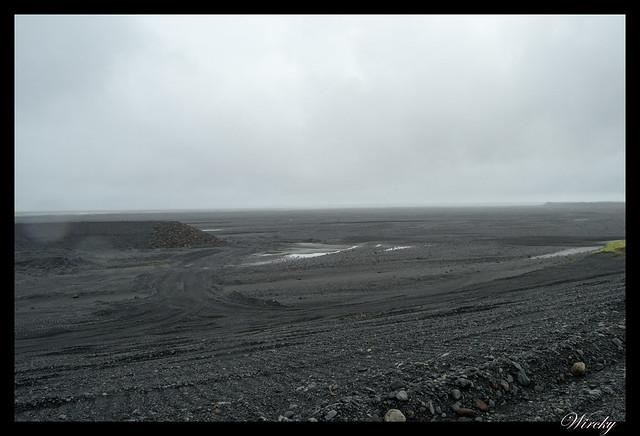 Islandia Vík Eldhraun Skaftafellsjökull Svartifoss Jökulsárlon - Llanuras de arena negra