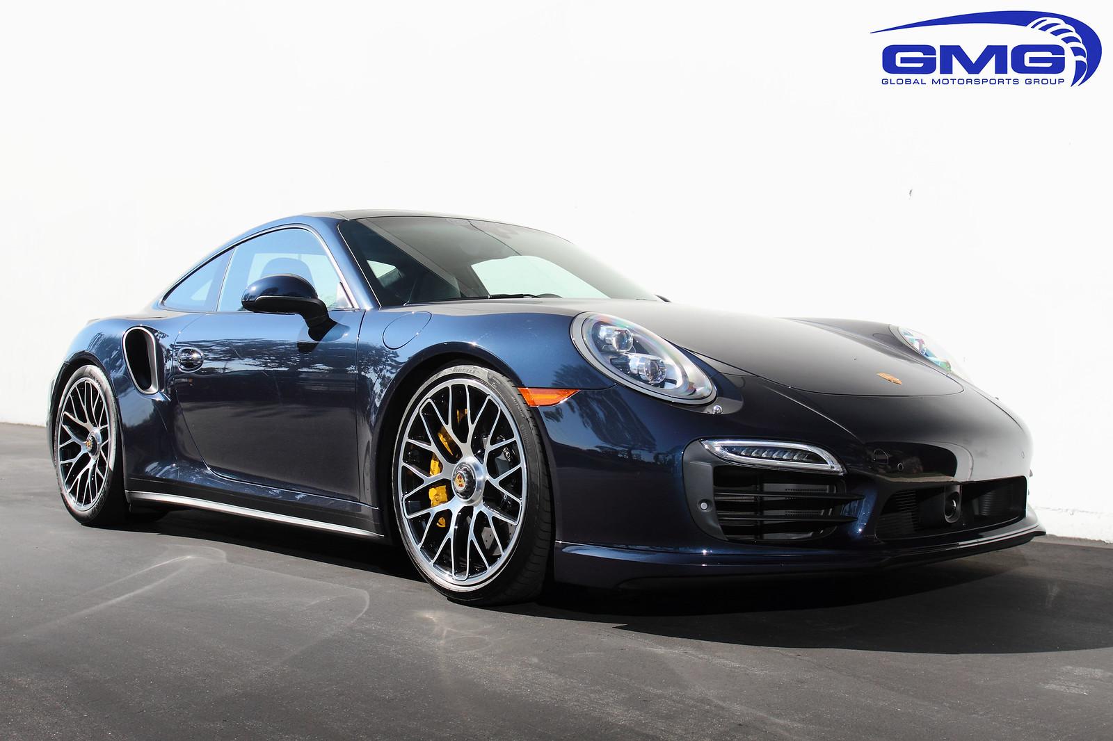 Porsche 991 Turbo S Dark Blue Metallic W Gmg Lowering