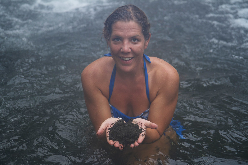 Black volcanic sand from Costa Rica