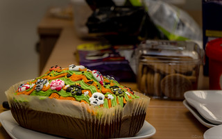 Halloween Ginger Scream Cake