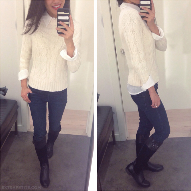 ann taylor crop sweater