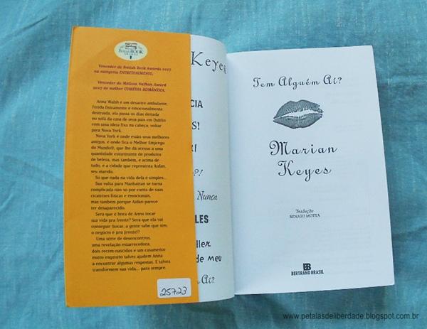 Tem Alguém Aí - Marian Keyes - sinopse, livro, resenha, crítica, trechos