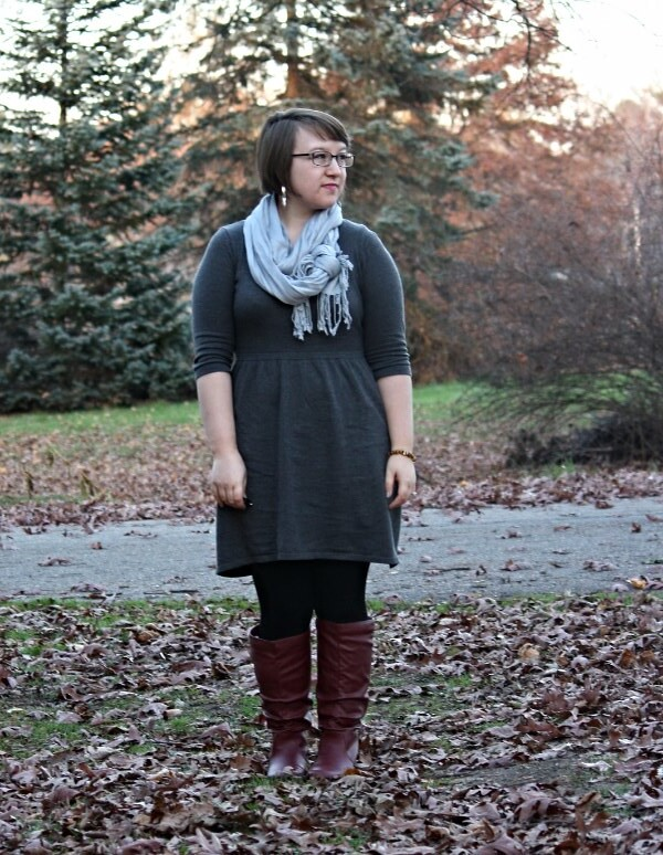 fall neutrals, red boots
