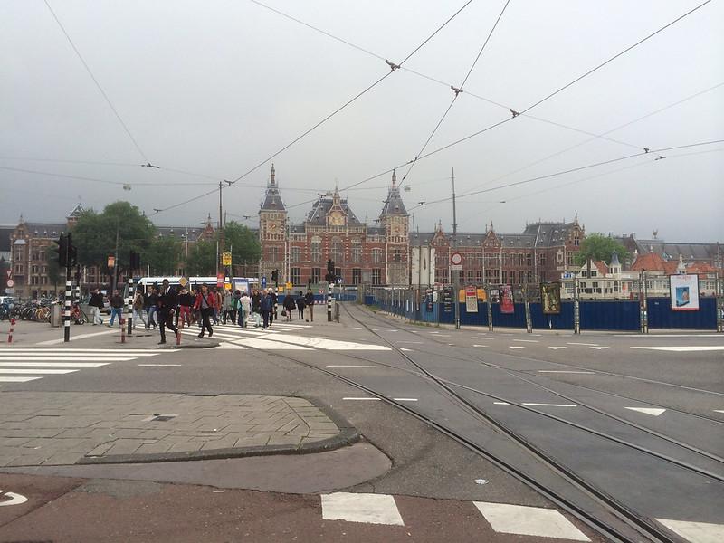 アムステルダム中央駅遠望