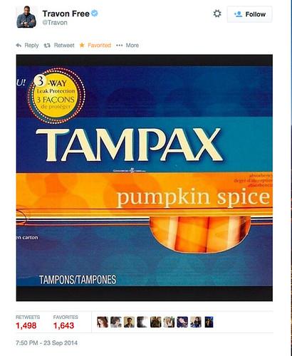 Tampax Pumpkin Spice