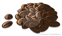 Coffee Beans Pile Vector Illustration
