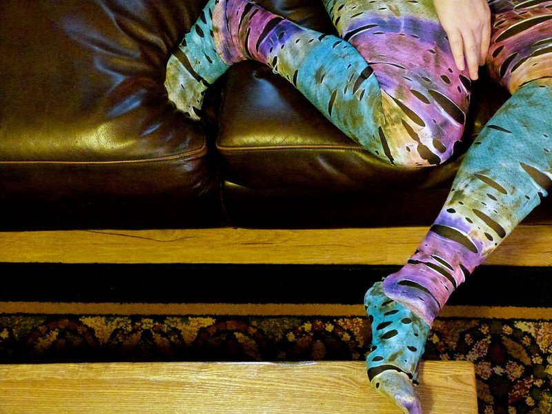 Multicolor Deconstructed Tights