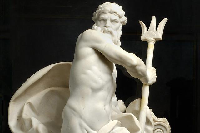 Statue of Neptune by Augustin Pajou (1730–1809), Musée des Beaux-Arts, Lyon, France