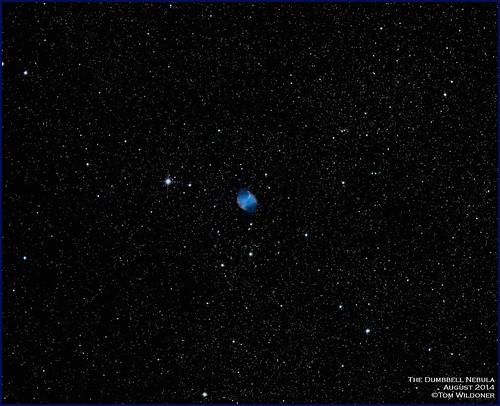 night canon stars star timelapse august nebula astrophotography astronomy nightsky stacking messier cosmos cosmology astronomer 2014 m27 dumbbell dumbbellnebula canon6d astrometrydotnet:status=solved tomwildoner astrometrydotnet:id=nova881908