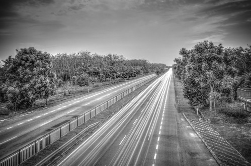 blackandwhite landscape highway scenery bnw lighttrail abiom