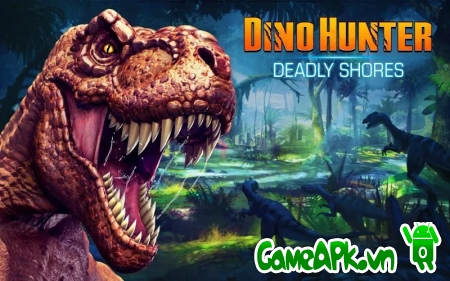 DINO HUNTER: DEADLY SHORES v1.2.1 hack full tiền & glu cho Android
