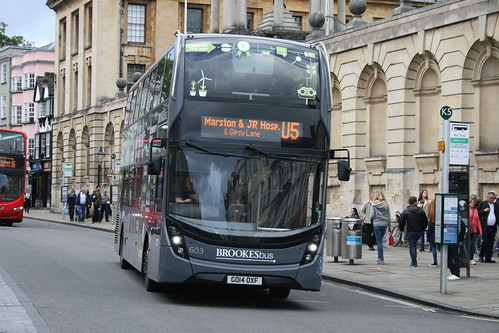 Oxford Bus Company 603 (GO14 OXF) on Route U5, Oxford Queen's Lane