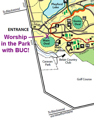Worship in the Park - Main Oval, Belair National Park (map)