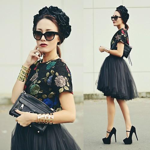 優雅秋裙穿搭 12