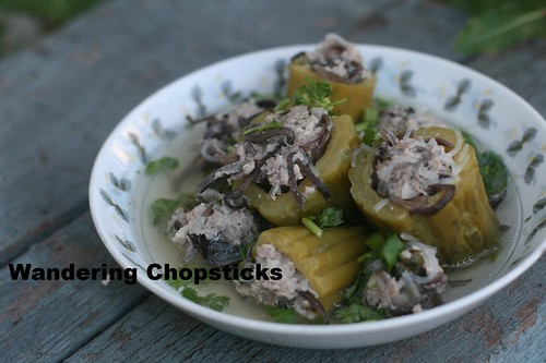 Canh O Kho Qua Nhoi Thit (Vietnamese Stuffed Bitter Melon Soup) 14