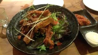 Oyster Mushroom Calamari at Yong Green Food