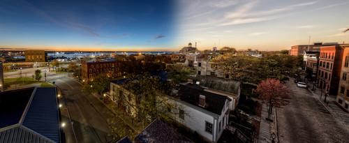 morning sunrise twilight unitedstates dusk massachusetts unionstreet elmstreet historicdistrict newbedford whalingcity