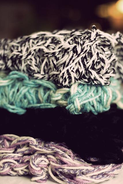 Arm Knit Scarves