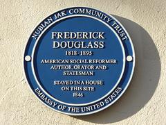 Photo of Frederick Douglass blue plaque