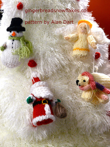 Advent Tree and Christmas Tree Decorations  - patterns by Alan Dart