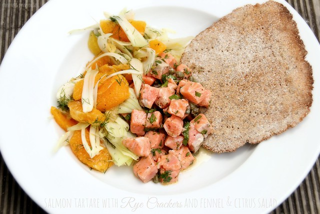 Salmon Tartare & Fennel & Citrus Salad 2