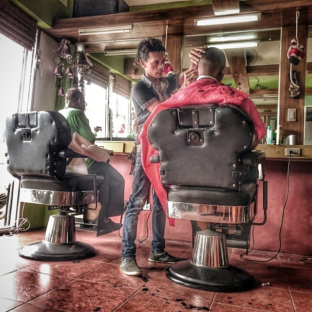 Barbershop in color.. #streetphotography #streetphotog  #barbershop #streetscene #igleyte #igtacloban #sony #sonyexperia #z3 #z3compact #phonephotography #instalike #instahdr #instagood #snapseedhdr #snapseed