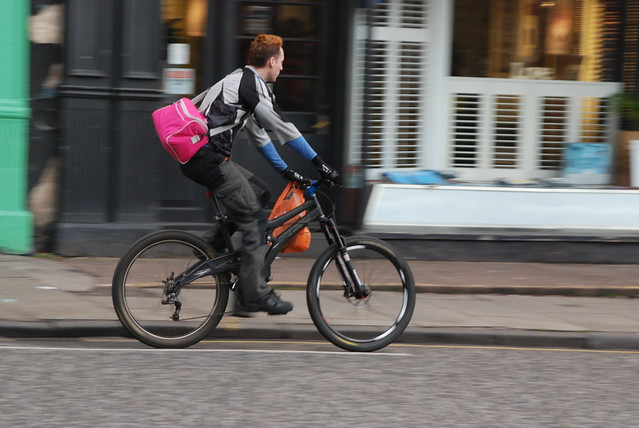 Pink shoulder bag