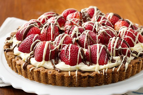 Hazelnut strawberry tart - bake-off