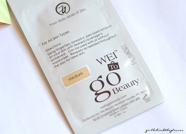 WEI To Go Beauty Ideal Skin Perfect Finish CC Cream back