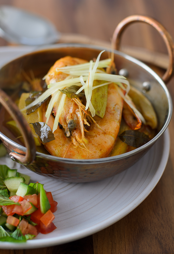 Prawn Curry with green mango