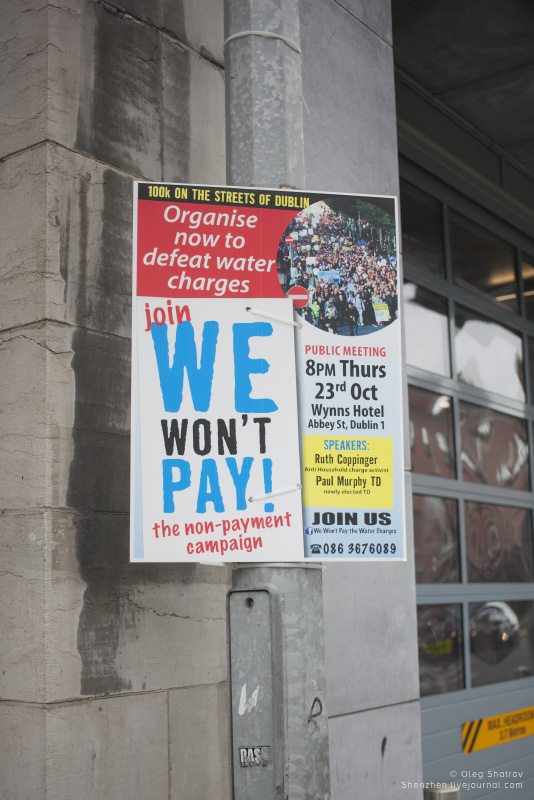 Dublin Water Protest poster