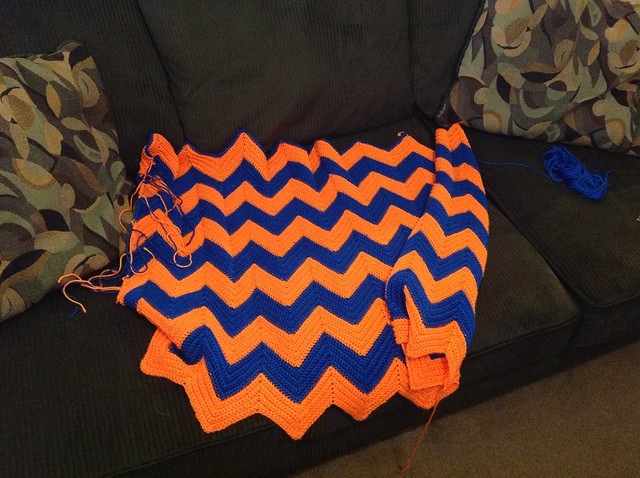BSU Ripple Blanket