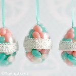 Pretty candy egg tutorial