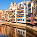 Buildings reflection on the water, Girona, Catalonia, Spain by CamelKW