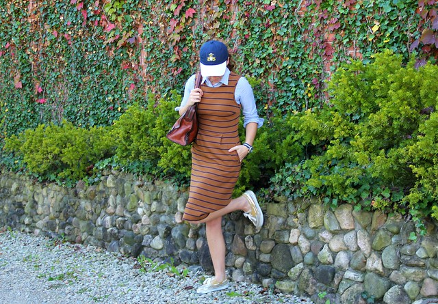 how to style a midis dress casually via Kristina J blog
