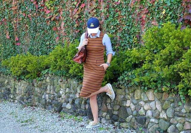 how to style a midis dress casually via Kristina J blog