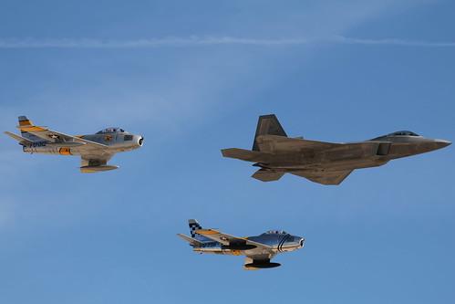 F-22 + F-86