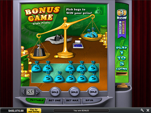 free Triple Profits slot bonus round