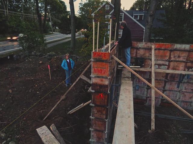Mom and Dad at Prospect St House construction (2016)