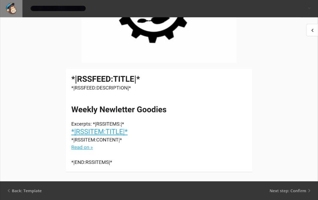 Mailchimp mail content