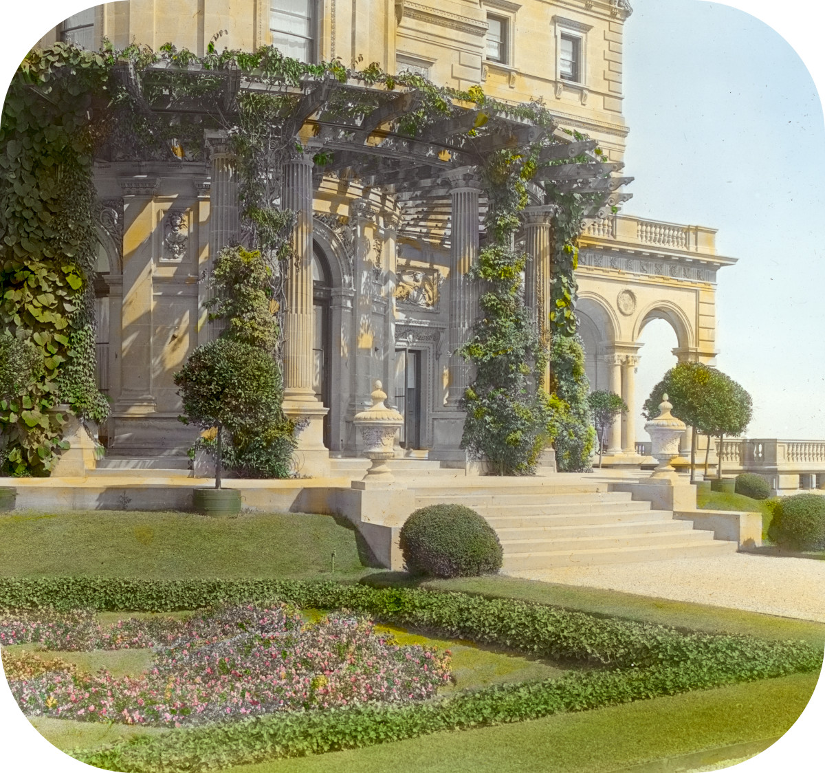'The Breakers,' Cornelius Vanderbilt II house, 44 Ochre Point Avenue, Newport, Rhode Island. Loggia parterre