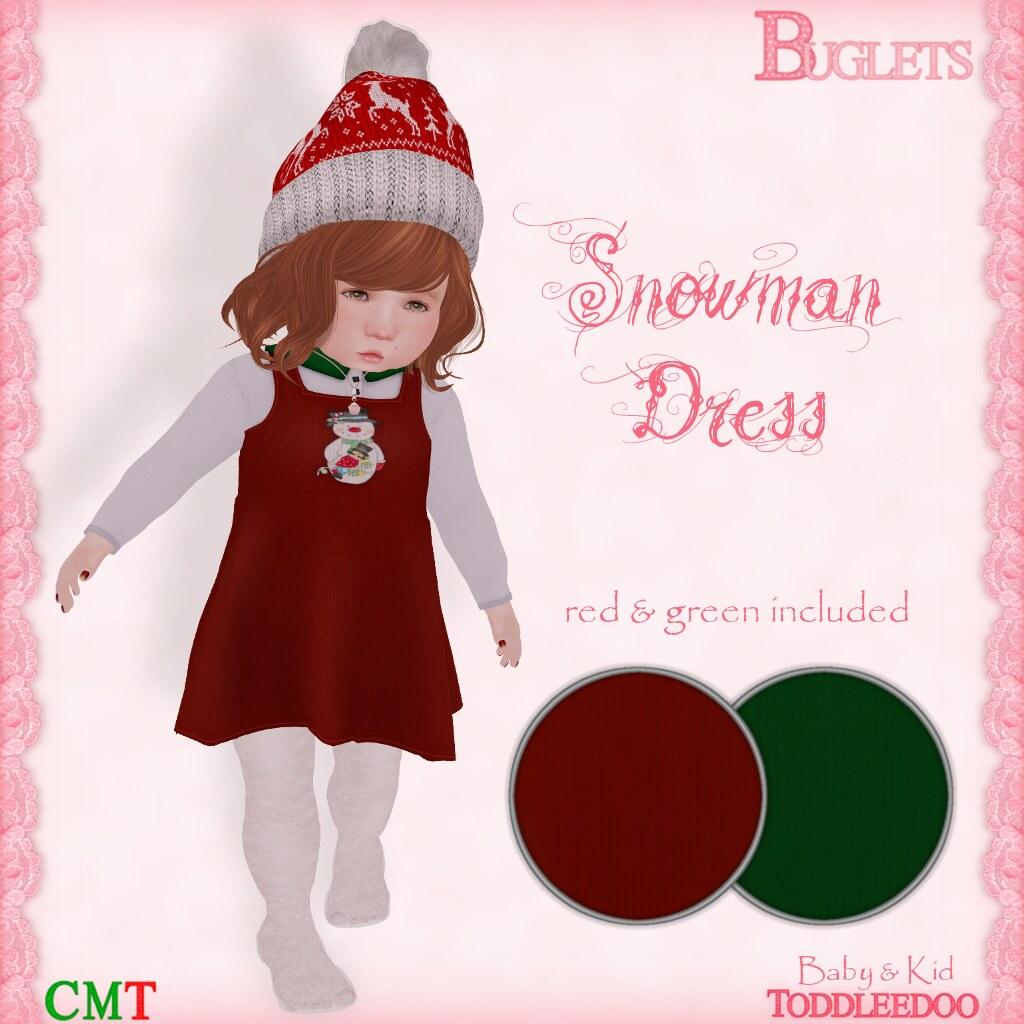 TD Snowman Dress AD - SecondLifeHub.com