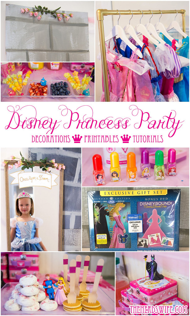 Disney princess spa party ideas for Home alone theme decorations