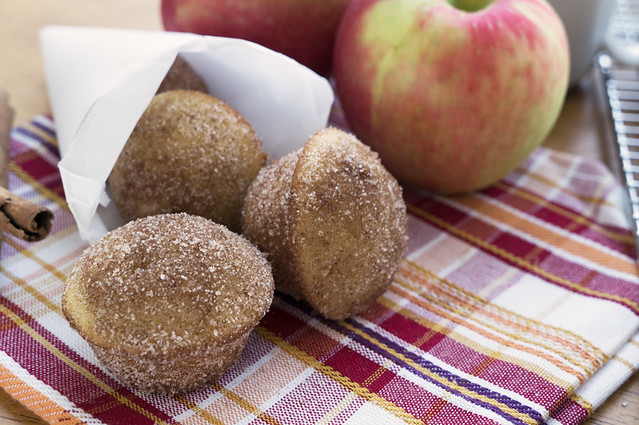 apple cider doughnut mini muffins