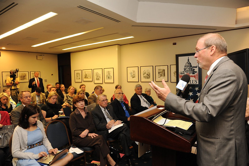 Rep. Morgan Griffith (R-VA) addresses the audience at the National Press Club