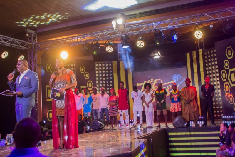 Bola,Peace and the final 12 Contestants.