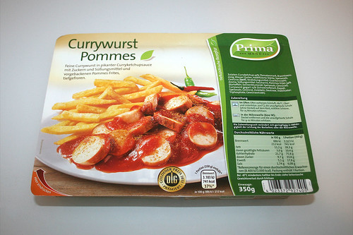 01 - Prima Currywurst mit Pommes - Packung Front / Package front
