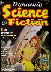 Dynamic Science Fiction Vol. 1, No. 1 (Dec., 1952). Cover Art by A. Leslie Ross